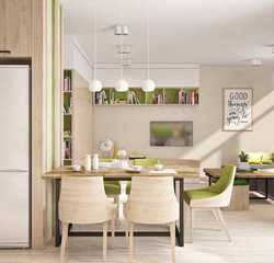 Tile 1 wood and green interior inspiration